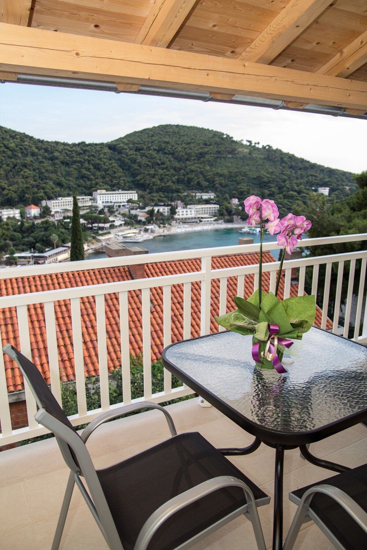 view from private terrace