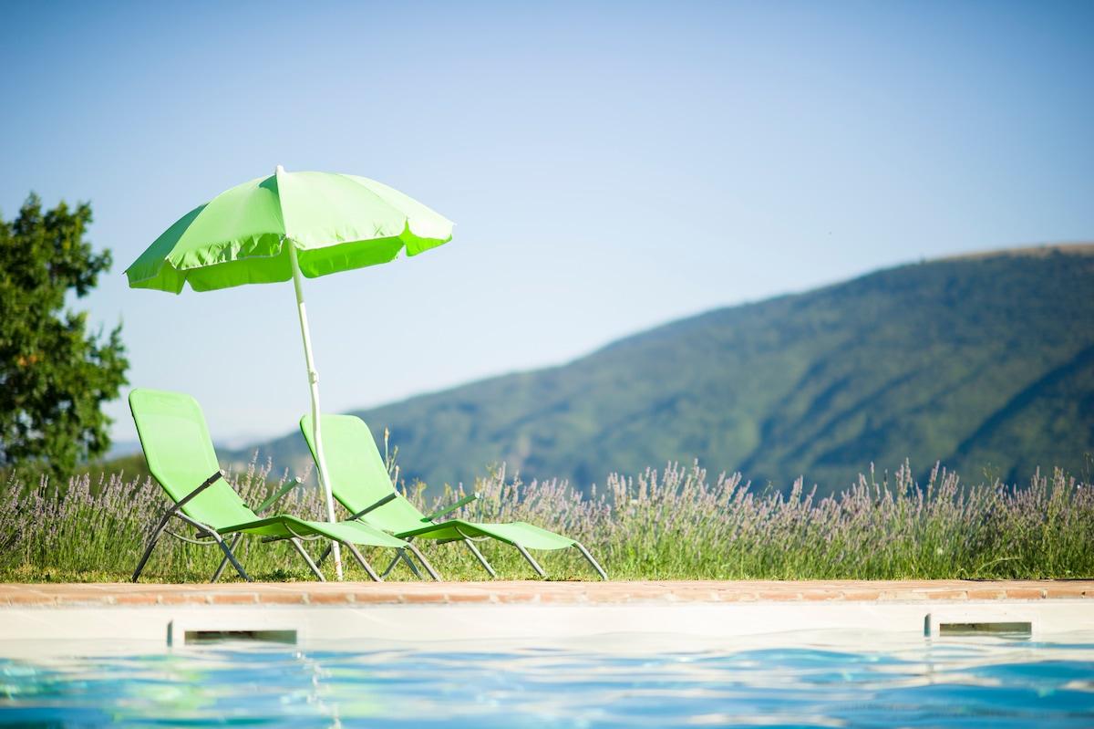 pool with panoramic views