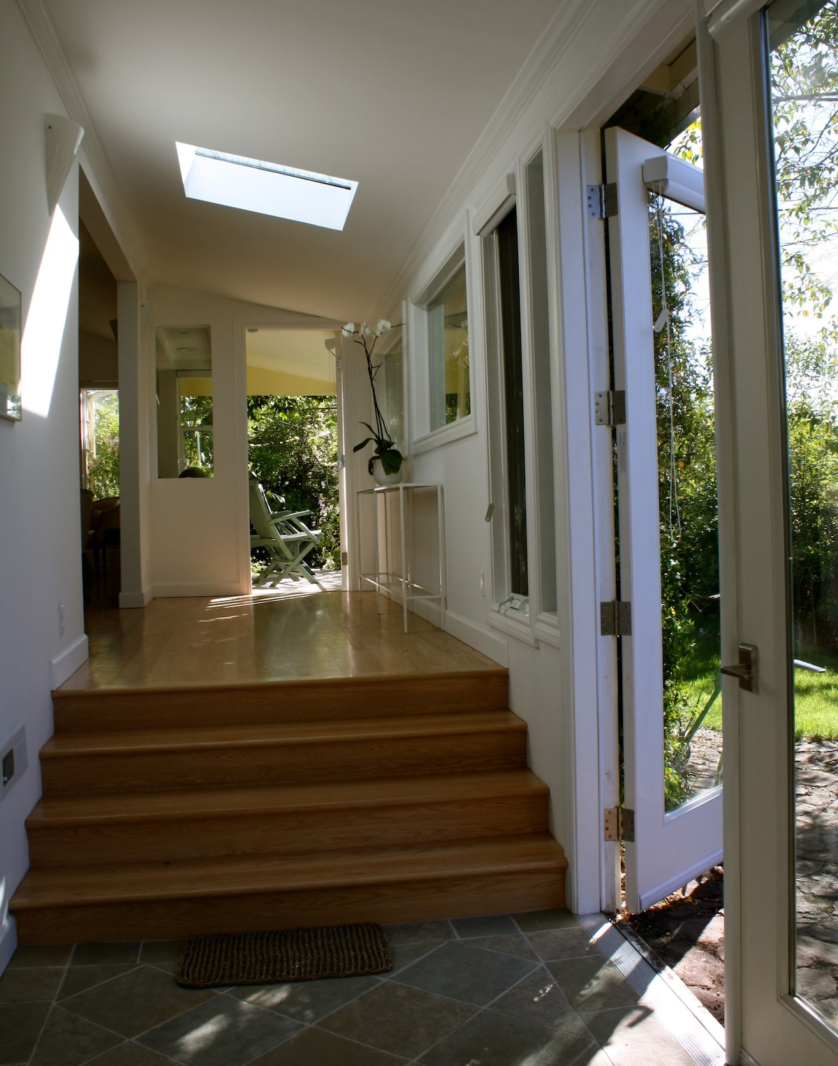 Entry Hall, with french doors and porch to front garden