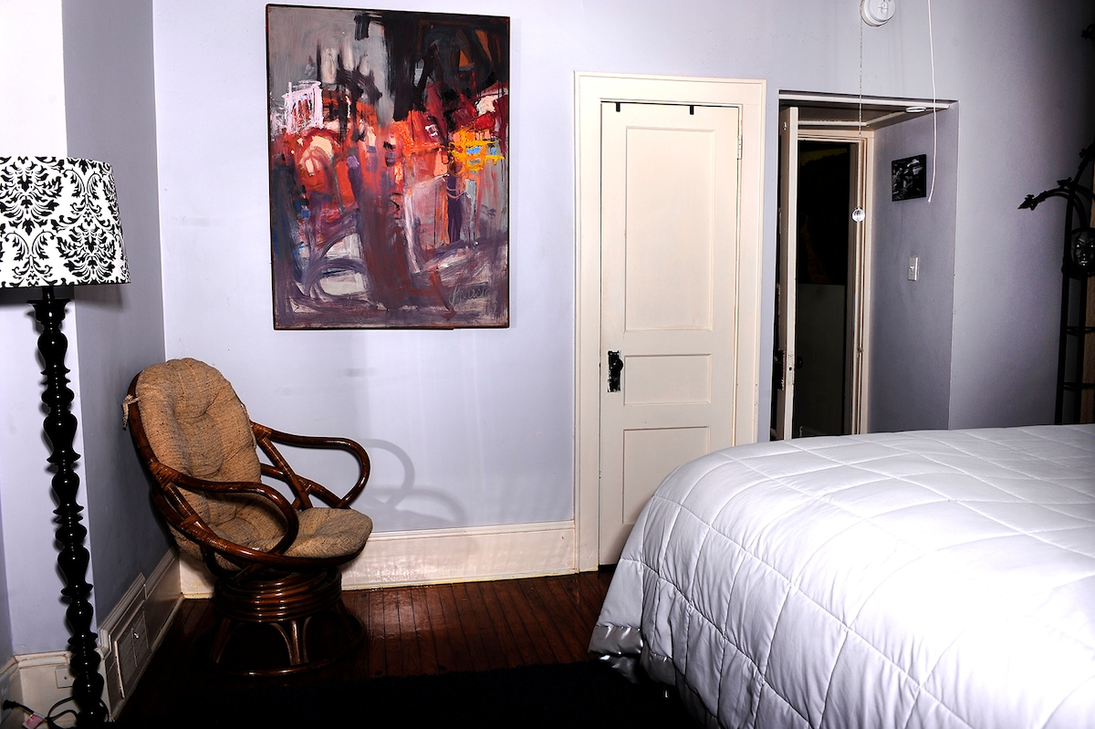 Another view of the spacious bedroom.