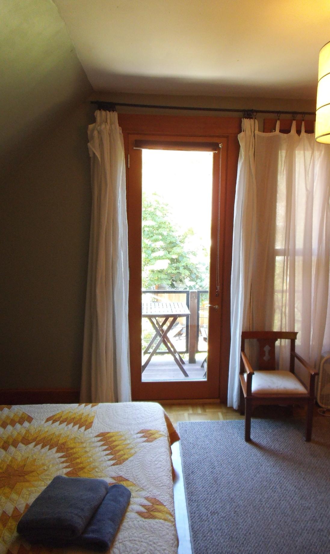View of balcony across room