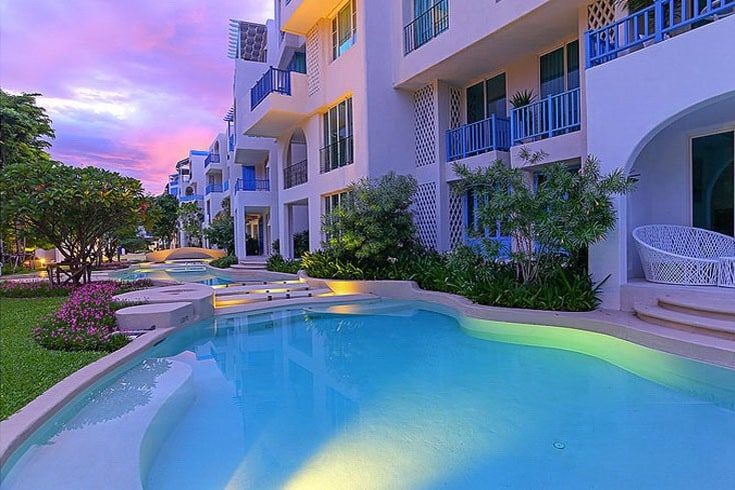 Sunset over the pool!