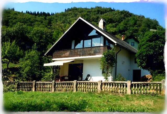 House BELA in a village Bohinjska Bela near Bled.
