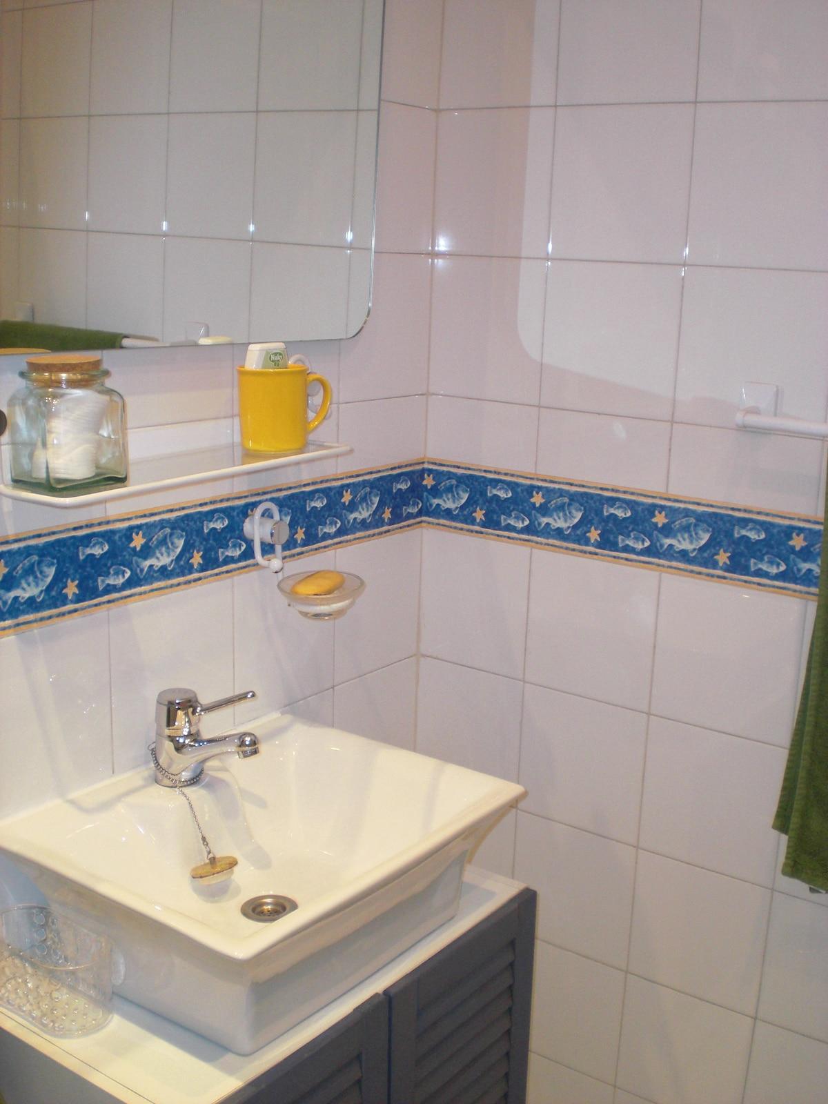 Lavabo del cuarto de baño de huéspedes
