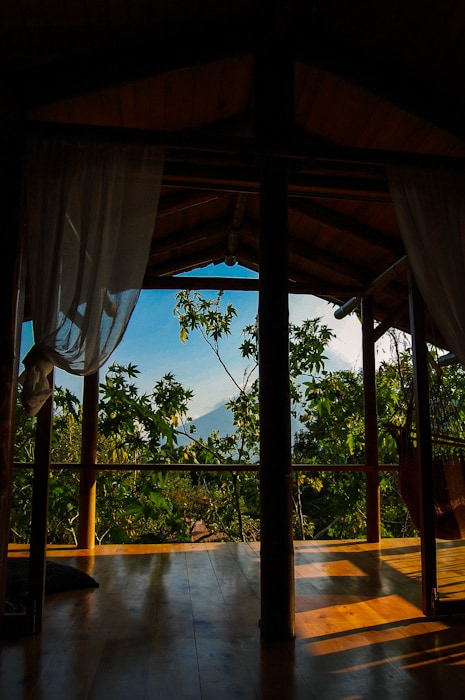 lovely views of Volcan San Pedro and Lake Atitlan, terrace to relax and practice yoga