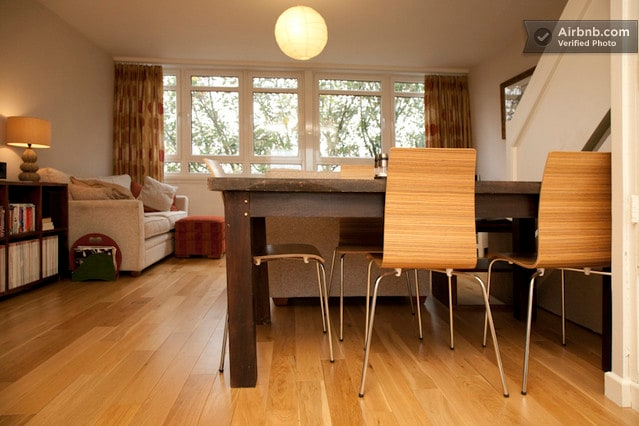Dining table - open plan floor.