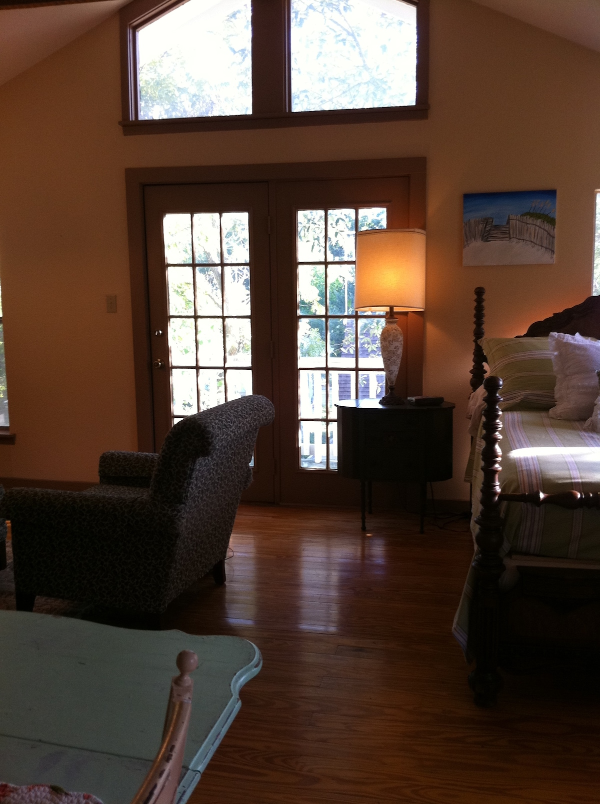French Doors with private balcony for your enjoyment.