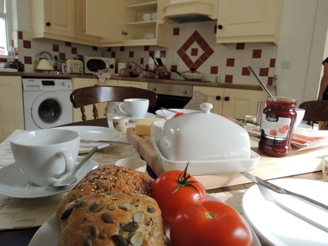 Breakfast in a bright airy kitchen to start your day!