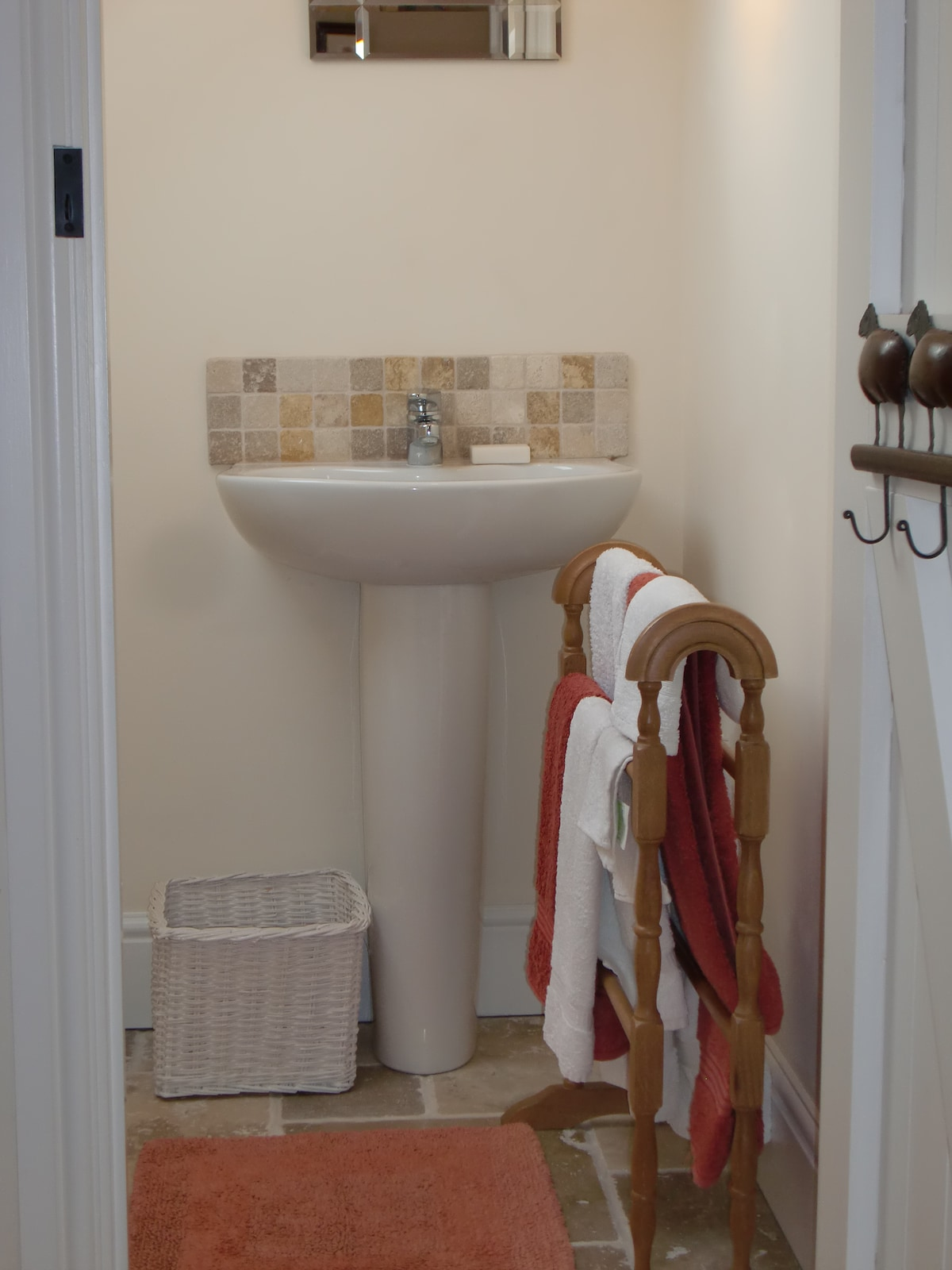 Handy ensuite wash hand basin and loo