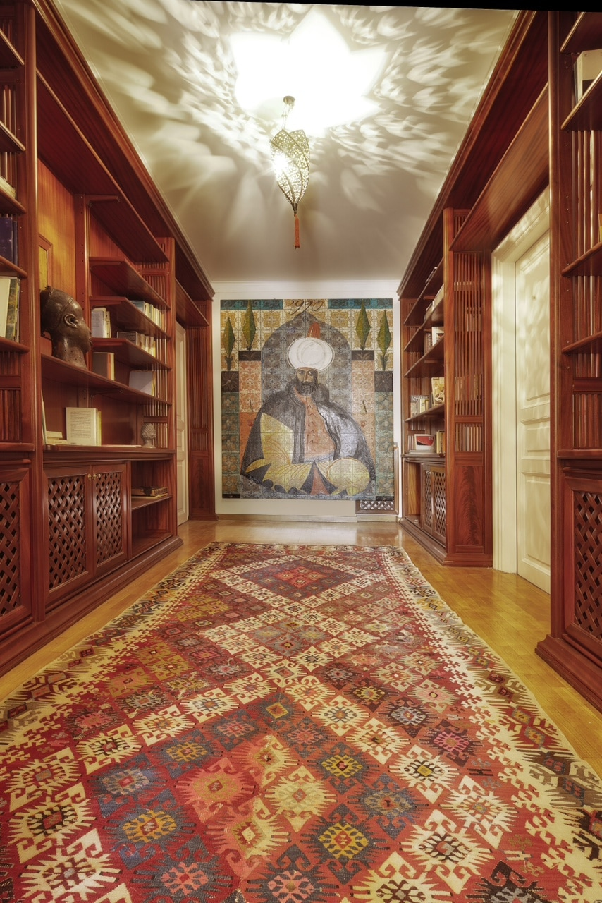 The Sultano, by Italian artist Aldo Mondino. Entrance hall.