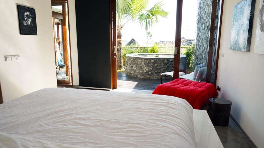 Bedroom view to the jacuzzi