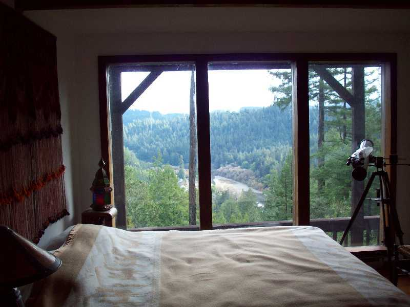 View from lower bedroom onto Russian River