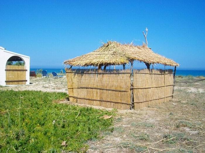 A hand made kiosk with local materials for relaxing...