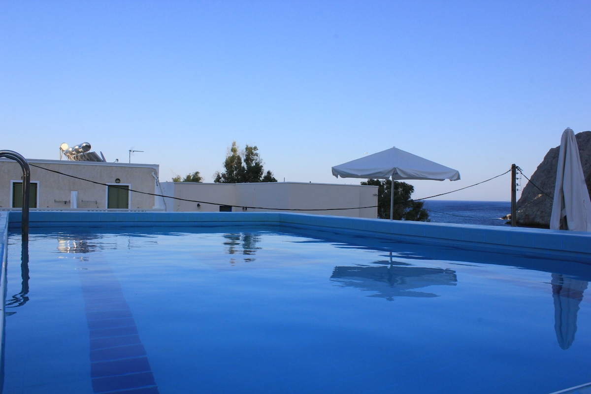 Rooftop swimming pool for our guests