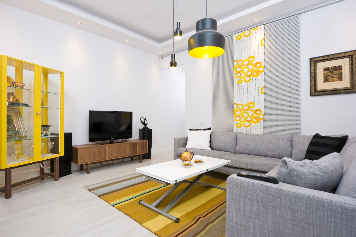 Newly designed apartment. Clean and minimalistic but warm and inviting.