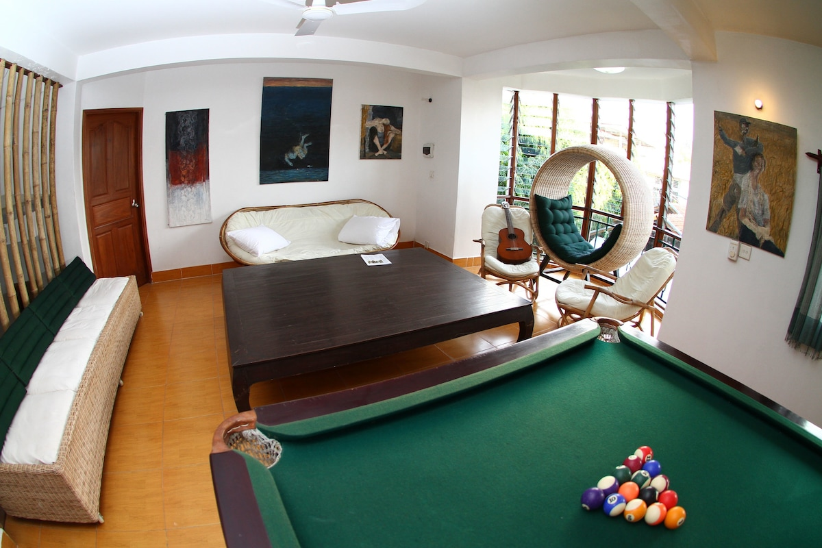 Charity-run guest house room for 3