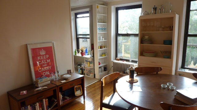 dining room w/ view to kitchen