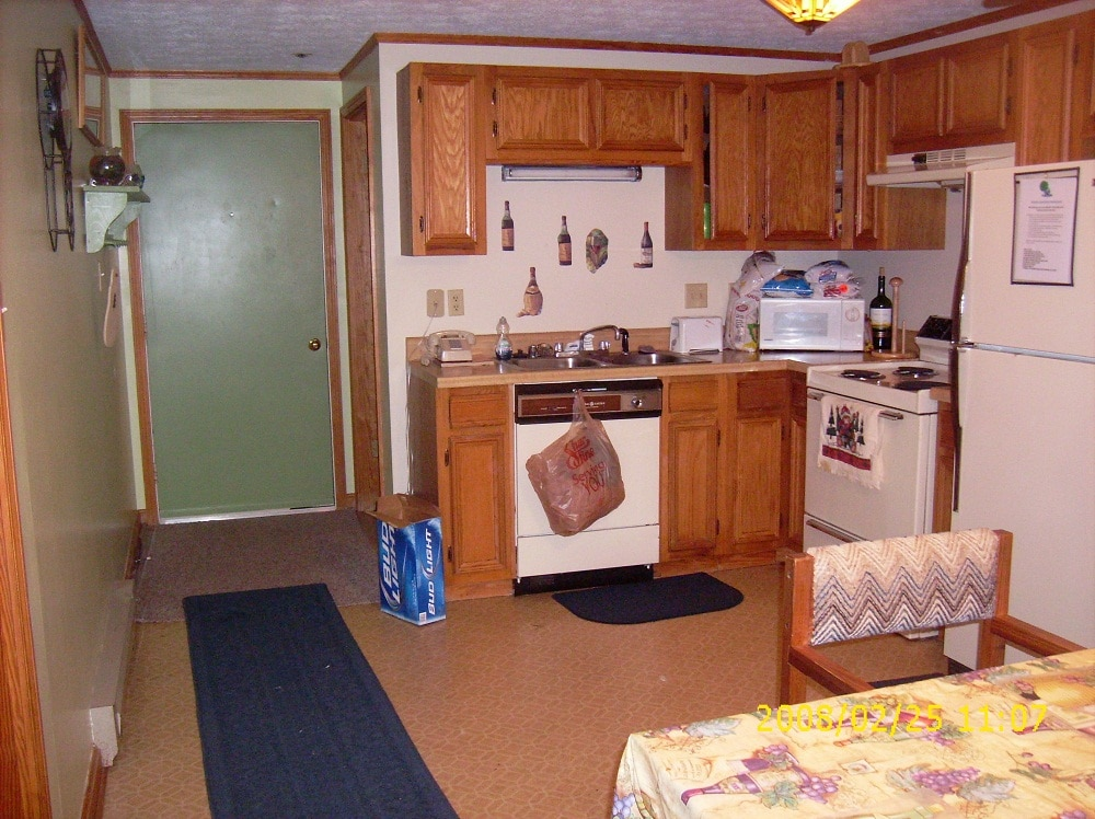 Our fully equipped kitchen with dishes for 6 cook at home.This is a great place to spend Thanksgiving with the family.