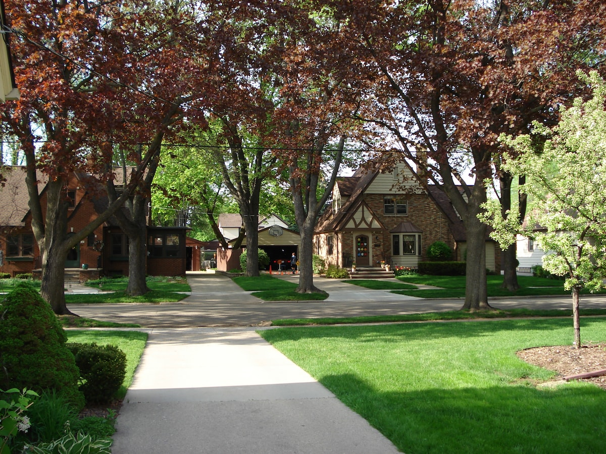 Quiet tree-lined street just one mile from the shops, restaurants and entertainment in beautiful downtown Appleton.