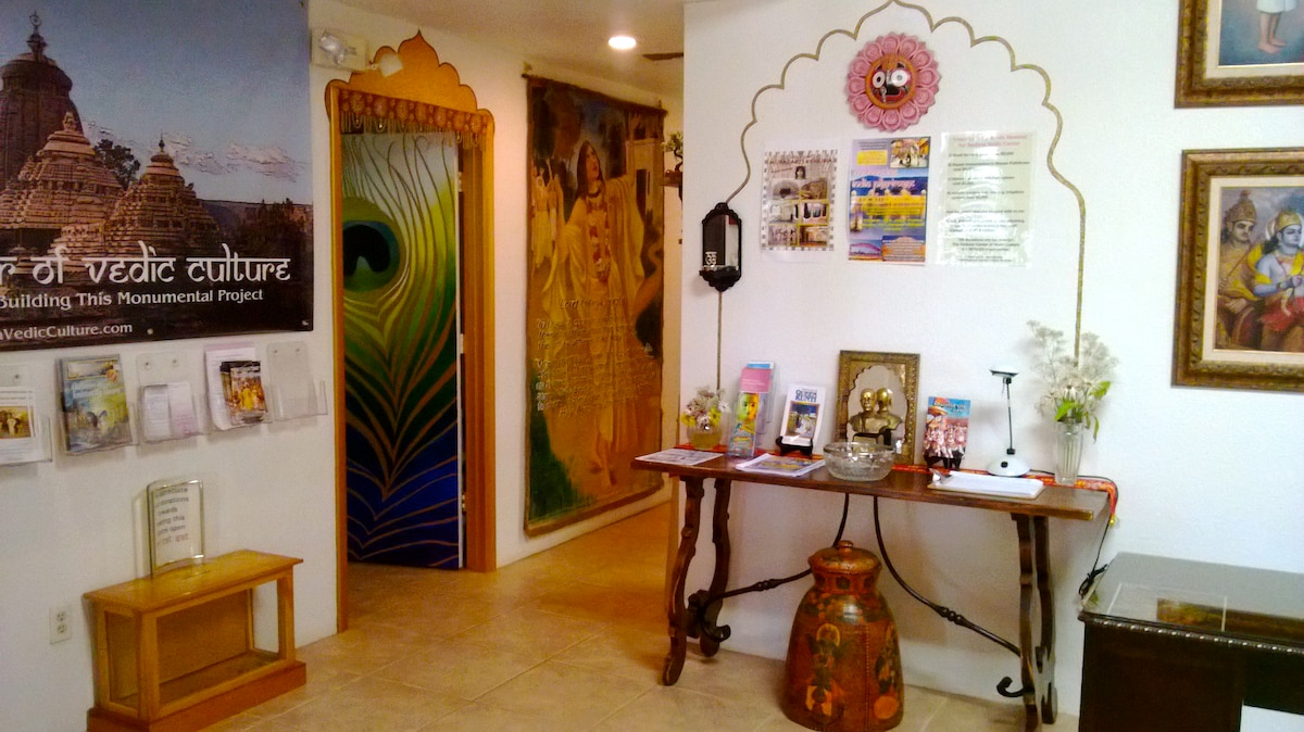 Enter the beautiful and mystical world of the Sedona Vedic Cultural Center and temple.