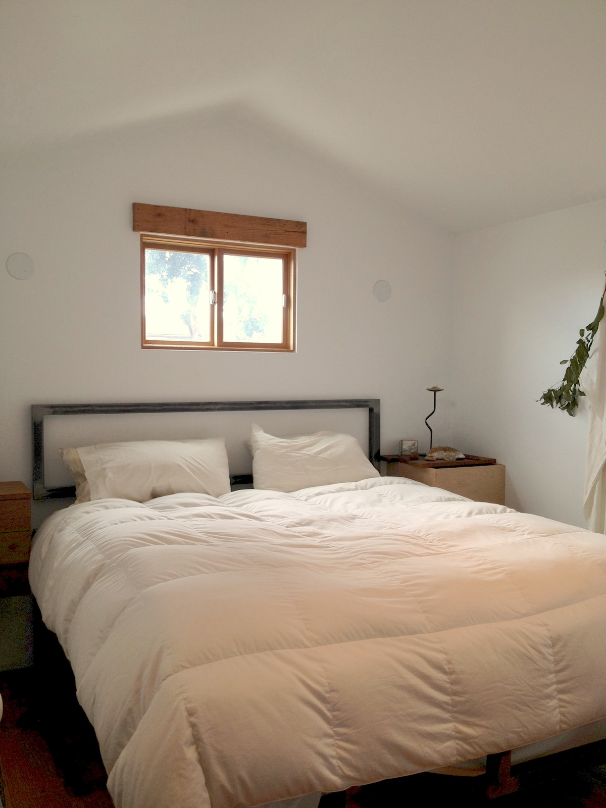 Love Birds, come sink into this comfy California King Bed in your private bedroom sanctuary.