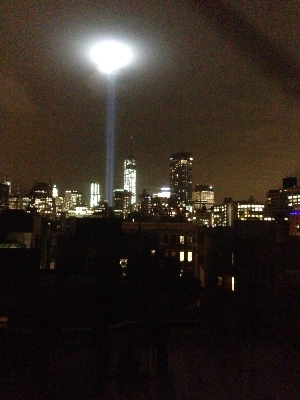 Taken from the living room couch as a remembrance to 9/11