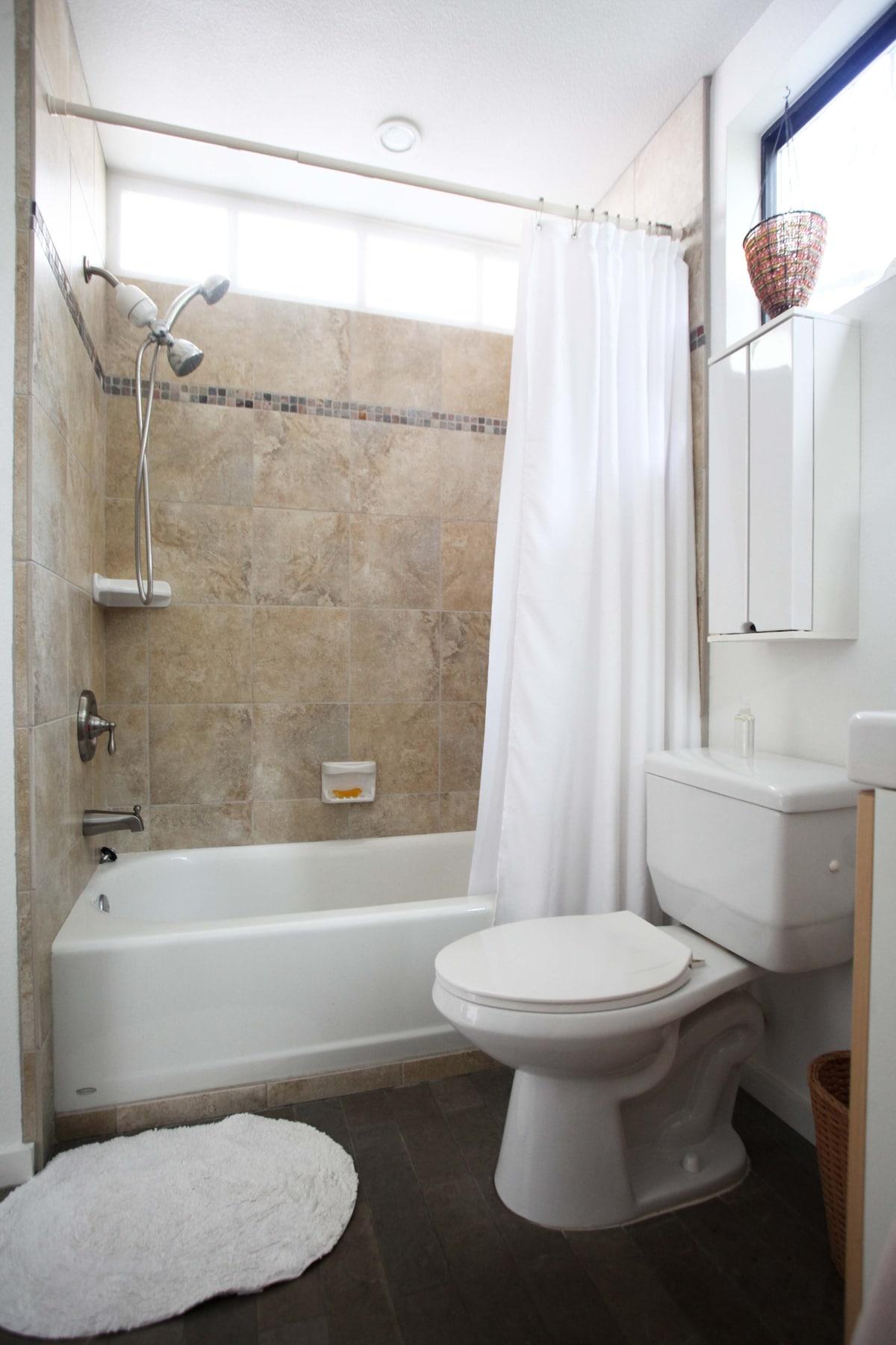 Sparkling clean modern bathroom