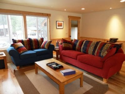 Living room- new sofas, seating for 5