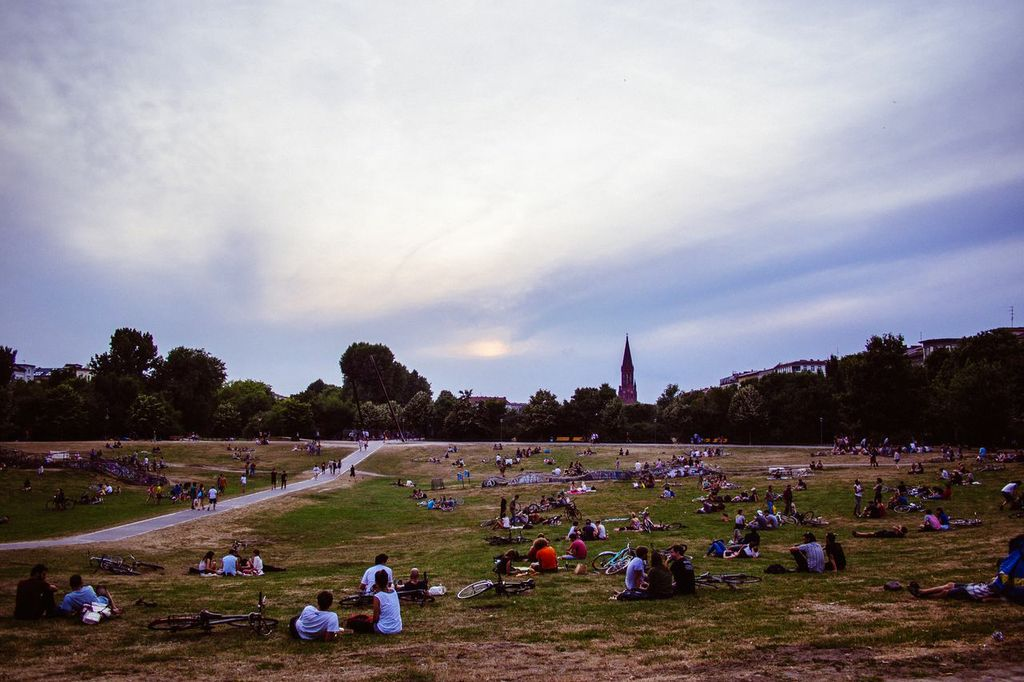 Nearby Görlitzer Park, a popular Kreuzberg hangout