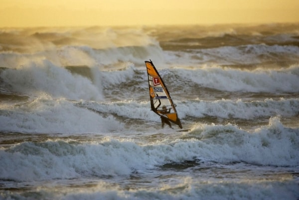 Surfing and windsurfing season at Witterings...
