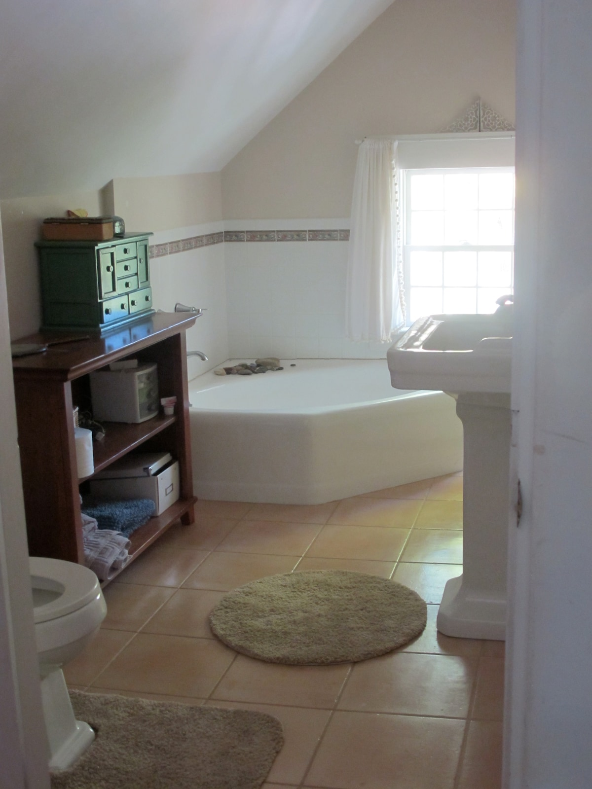 One of the shared bathrooms