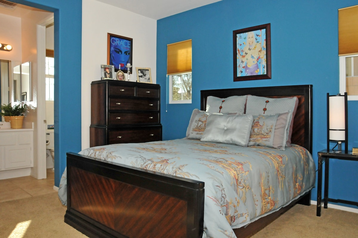 Room includes full bath and walk-in closet