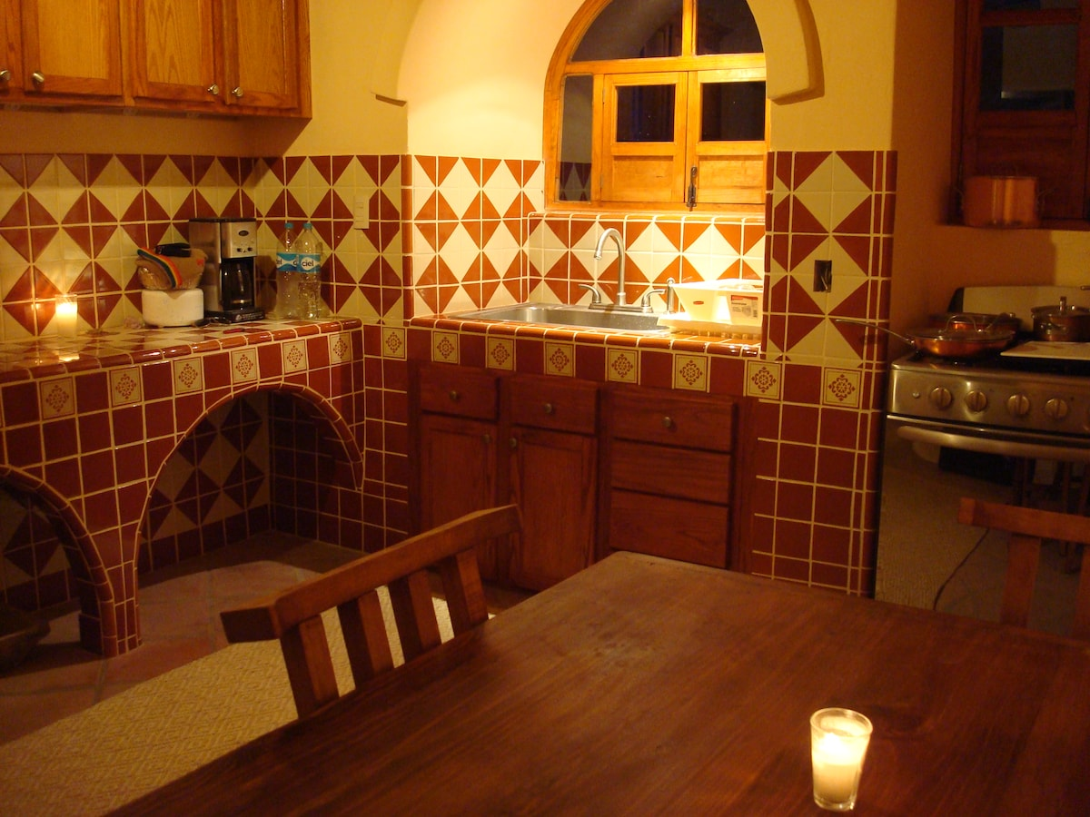 Kitchen at night