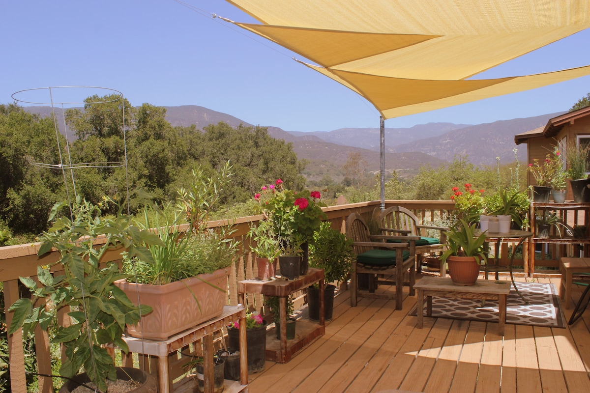 From the deck, you'll experience views of the Ventura River and the Transverse Range of the Los Padres National Forest. UNRIVALED!