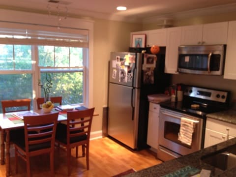 Spacious kitchen.  Welcome Treats and Breakfast included.