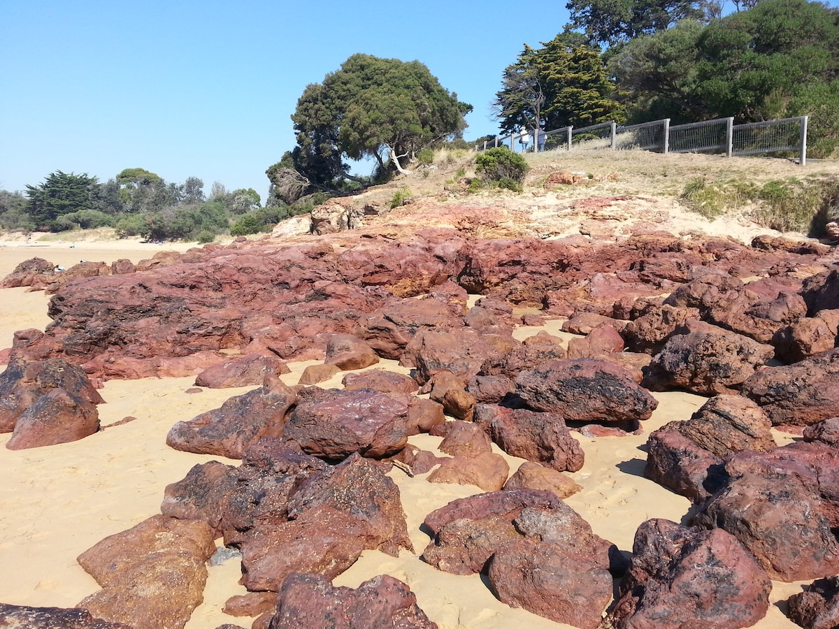 Famous Red Rocks beach