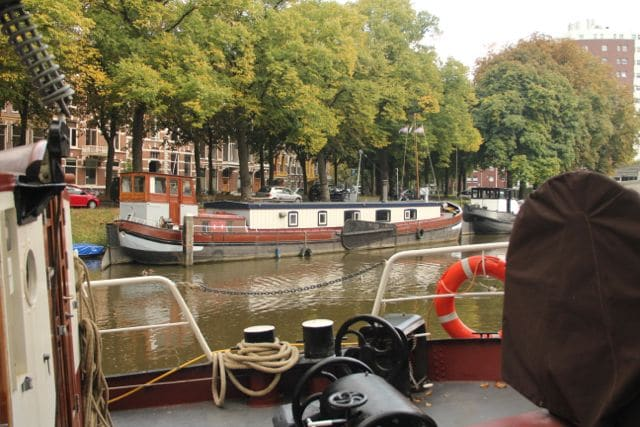 View on my ship from the other side of the canal.