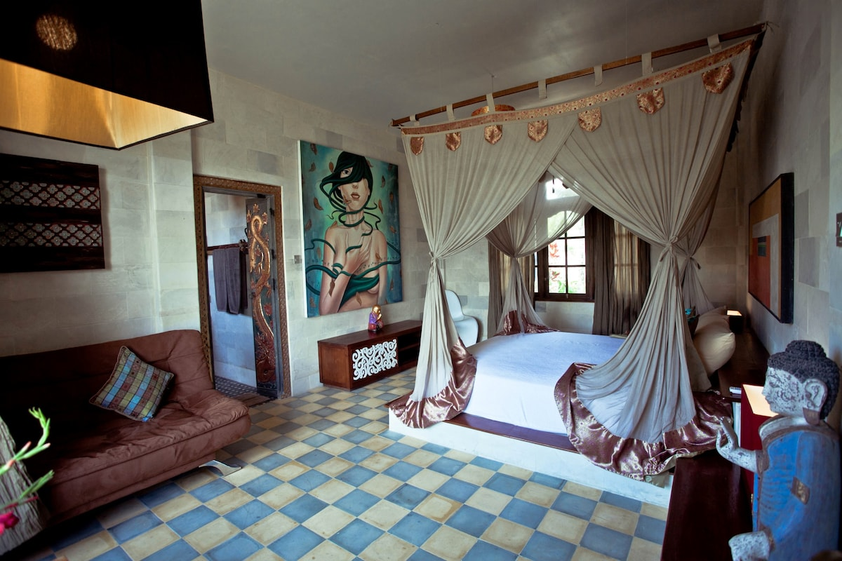 One of the master bedrooms on the ground floor