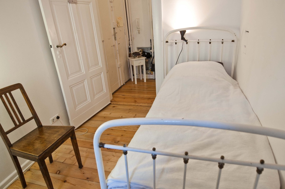 The bed in the guest room (your room)