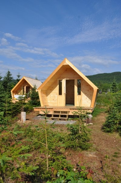 The ZzzzMoose Luxury Camping Cabins