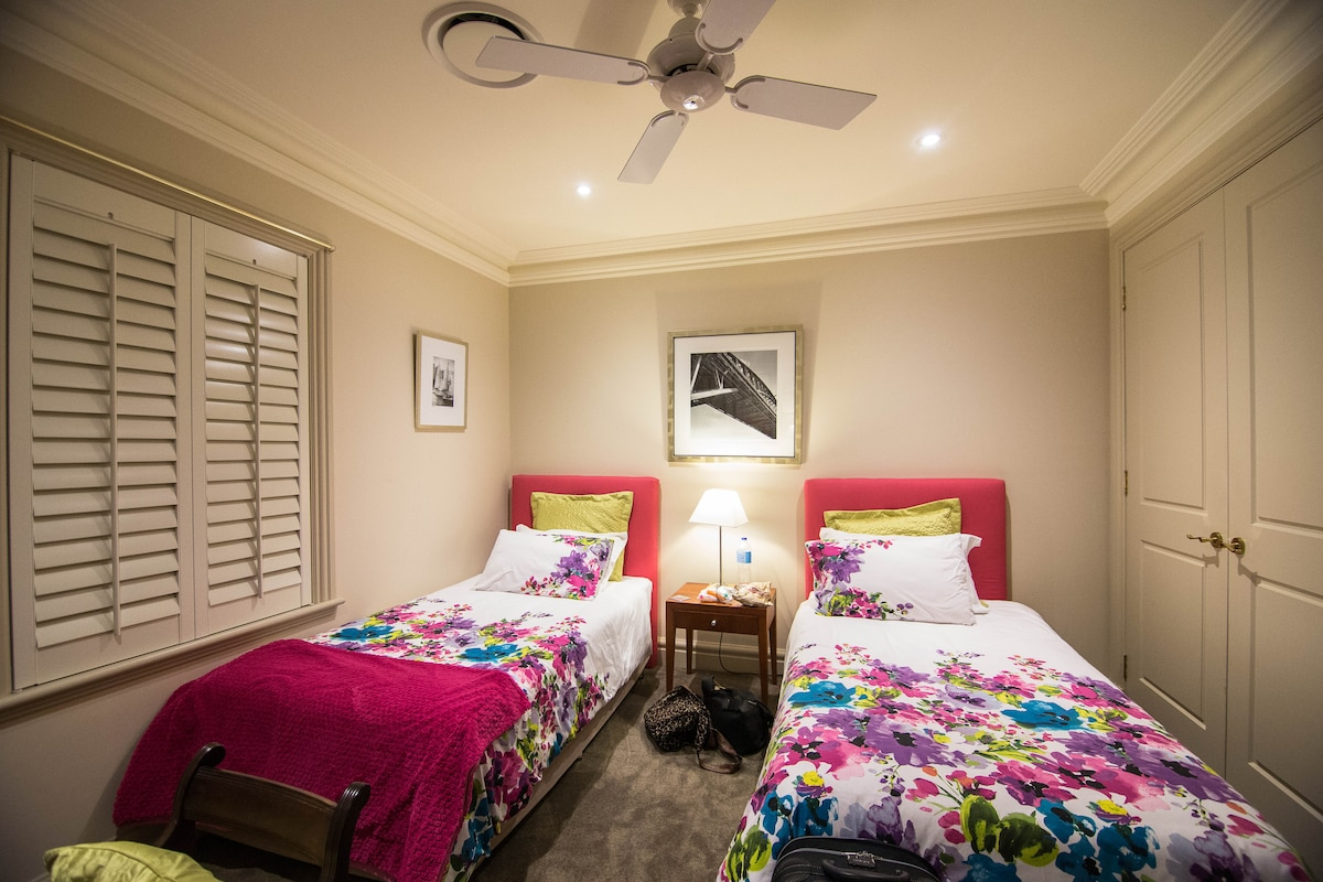 Twin room with king single beds