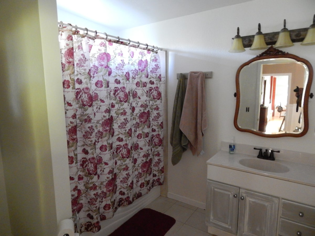 Attached bathroom to room one