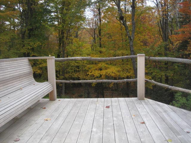 Our deck in Autumn