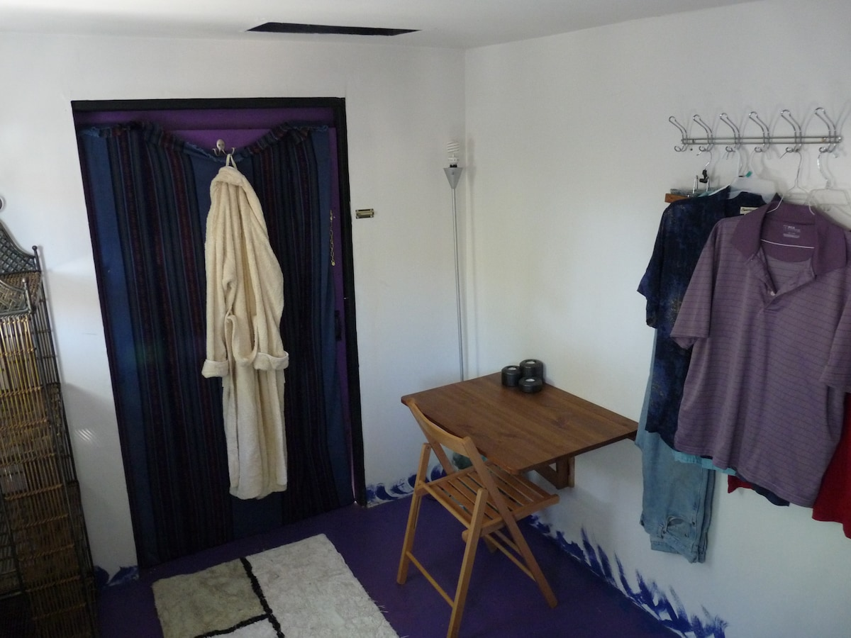Hooks for clothes in Unattached room