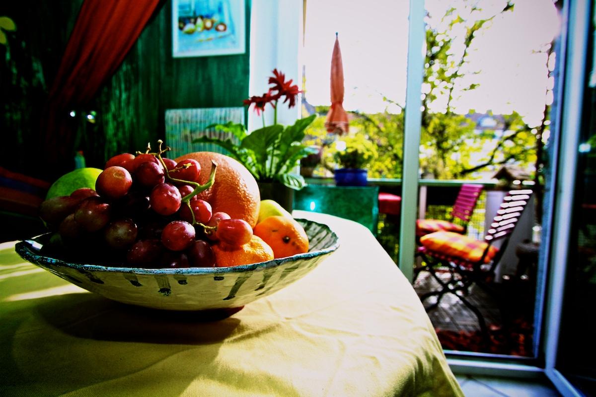 hier gibt es immer frisches Obst für die Gäste