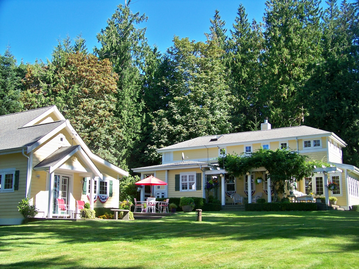 Rental in proximity to main house.