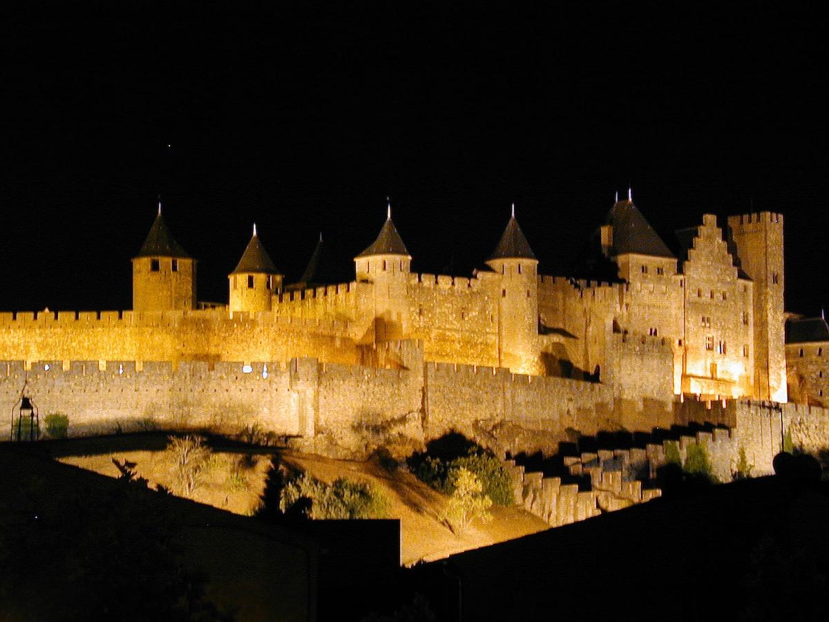 View of La Cité at night