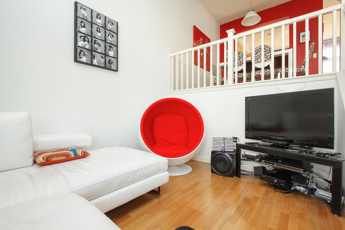 Our living room, you are welcome to watch TV during your stay.