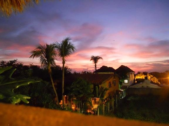 Sunset view from the palapa