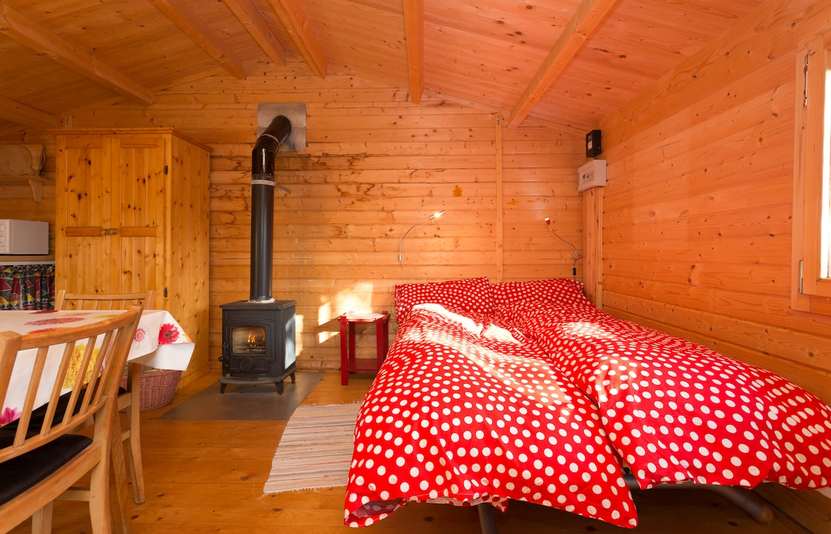 Double bed in cabin